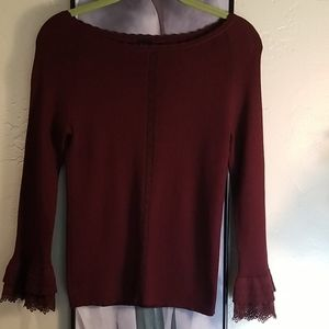 Be Knit Sweater Purple Career Size S